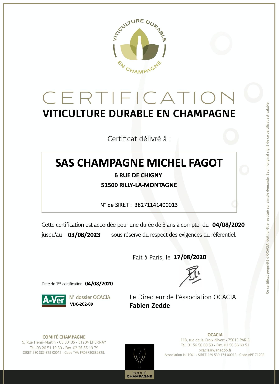 Certificat VDC